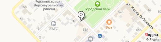Магазин мебели на карте Верхнеуральска