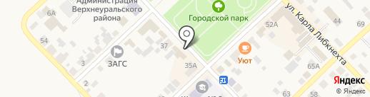 Продукты на карте Верхнеуральска
