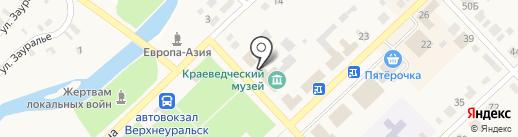 Магазин автозапчастей на карте Верхнеуральска