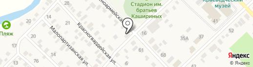 Сударушка на карте Верхнеуральска