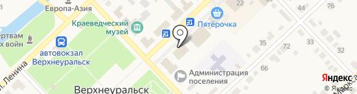 Магазин постельных принадлежностей на карте Верхнеуральска