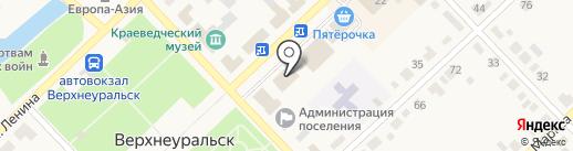 Магазин детской одежды и игрушек на карте Верхнеуральска