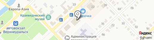 Магнит на карте Верхнеуральска