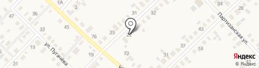 Продуктовый магазин на ул. Рябиновая на карте Верхнеуральска