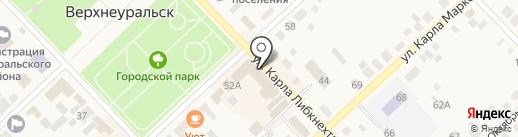 Магазин кондитерских изделий на карте Верхнеуральска