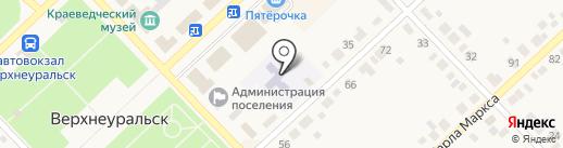 Детский сад №6 на карте Верхнеуральска