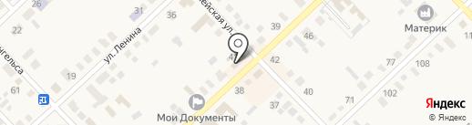 Красный Уралец, АНО на карте Верхнеуральска