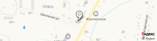 Продуктовый магазин на карте Желтинского