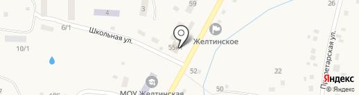 Продуктовый магазин Миляев А.С. на карте Желтинского