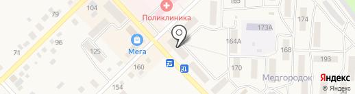 Урал на карте Верхнеуральска