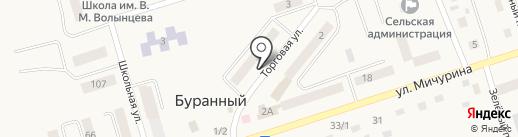 Радуга, продовольственный магазин на карте Буранного