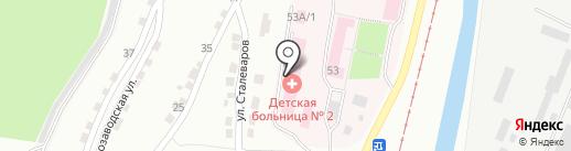 Детская городская больница №3 на карте Златоуста
