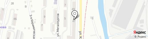 Ариант на карте Златоуста