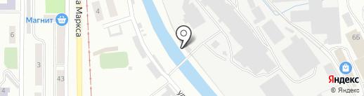 Златоустовский абразивный завод на карте Златоуста