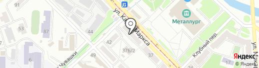 Магазин канцелярских товаров на карте Златоуста
