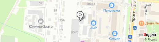 МАОК на карте Златоуста