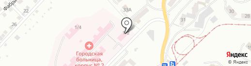 Златоустовская городская больница №1 на карте Златоуста