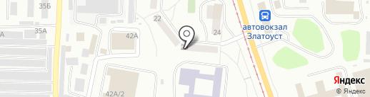 Автополка на карте Златоуста