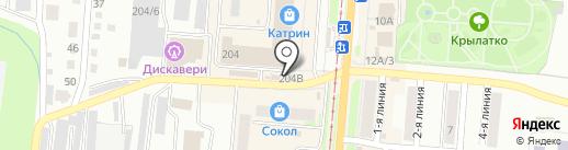 Звездное на карте Златоуста