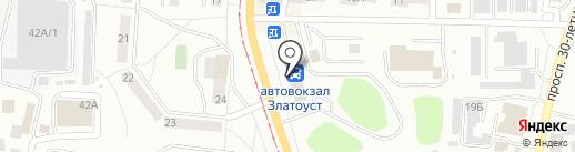Магазин автотоваров на карте Златоуста