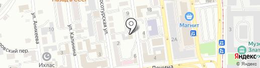 Торгово-сервисная компания на карте Златоуста