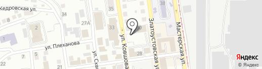 Златоуставтосервис Шиномонтаж 555 на карте Златоуста