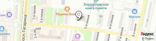 Отдел управления ФСБ РФ по Челябинской области в г. Златоусте на карте Златоуста