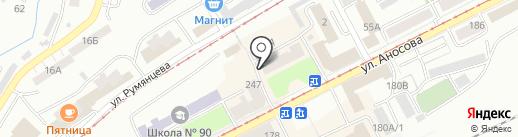 Кыштымский трикотаж на карте Златоуста