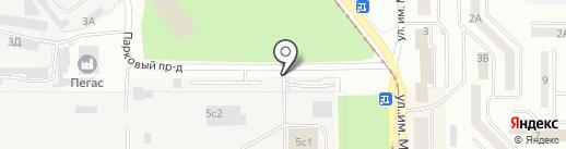 Автостоянка на Парковом проезде на карте Златоуста