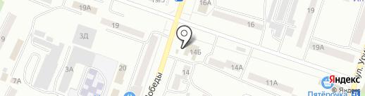 Банкомат, Уральский банк Сбербанка России на карте Златоуста