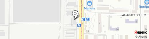 Магазин мяса на карте Златоуста