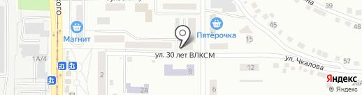 Магазин продуктов на карте Златоуста