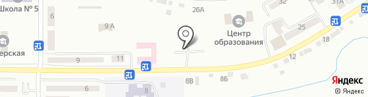 Автостоянка на ул. Полетаева на карте Златоуста