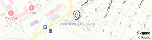 Магазин продуктов ул. Южноуральский квартал на карте Златоуста