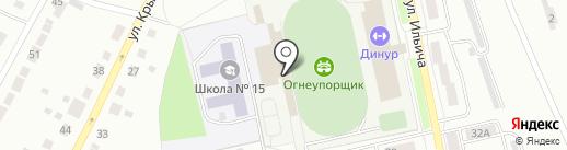 ДИНУР на карте Первоуральска