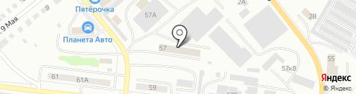 Вектор на карте Ревды