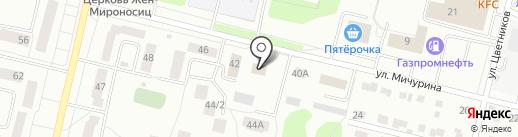 Дегтярское участковое лесничество на карте Ревды