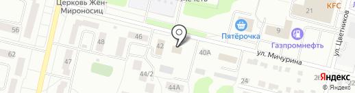 Октябрьское участковое лесничество на карте Ревды