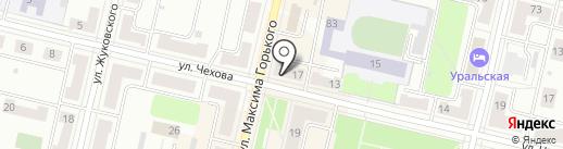 Ласточка на карте Ревды