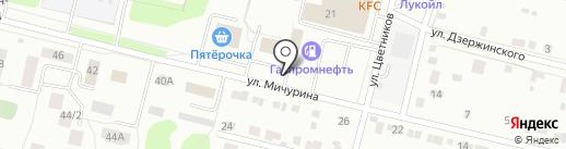 Автостоянка на карте Ревды