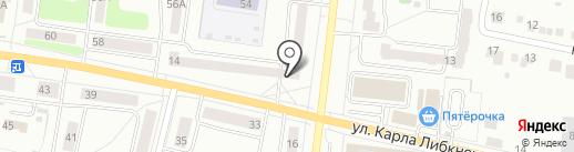 Салон траурной флористики на карте Ревды
