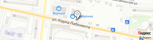 Автостоянка на ул. Карла Либкнехта на карте Ревды