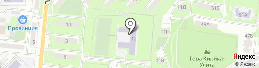 Средняя общеобразовательная школа №6 на карте Первоуральска