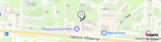 ДЮСШ на карте Первоуральска