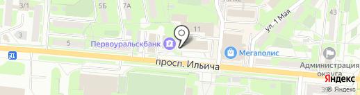 Московская ярмарка на карте Первоуральска