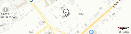 Автобан на карте Нижнего Тагила
