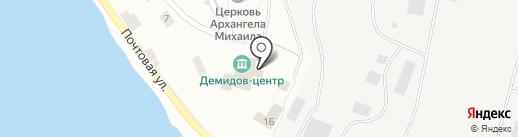 Демидов-Центр на карте Ревды