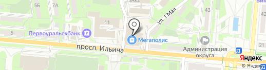 Герси на карте Первоуральска