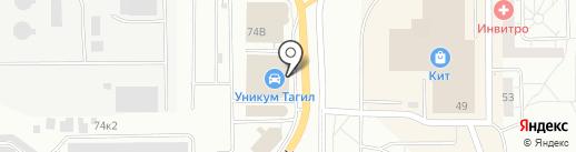 KIA на карте Нижнего Тагила