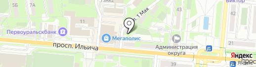 Центр автомобильных товаров и туризма на карте Первоуральска
